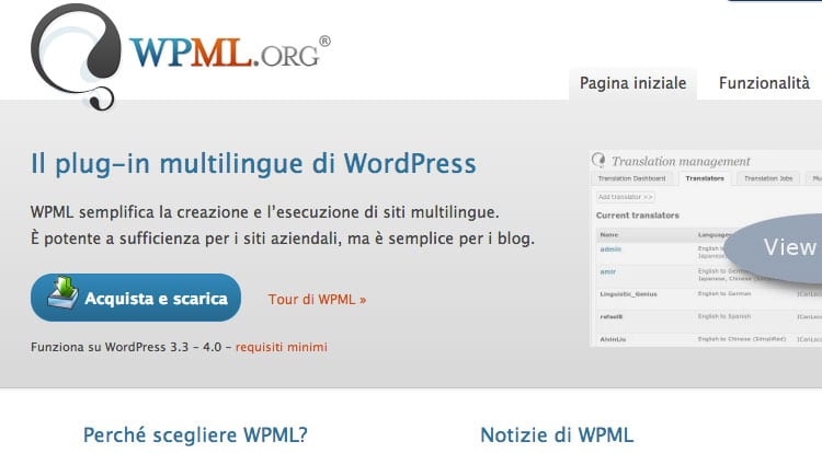 Come gestire un sito multilingua su Wordpress: Plugin WPML