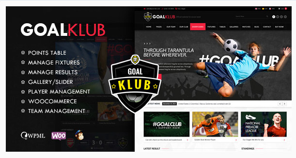 Goal Club | Sports & Events WordPress Theme