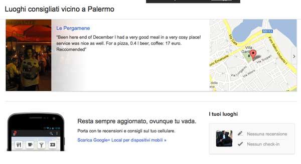 Google+ Local: Arrivano Le Ricerche Personalizzate?