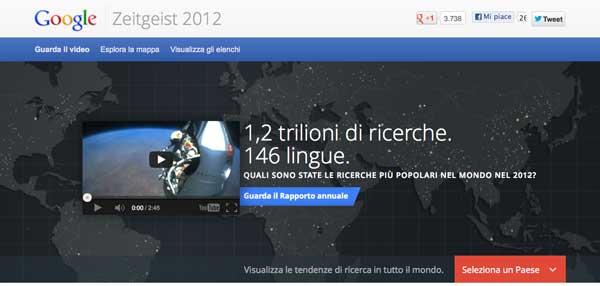 Google ZeitGeist 2012: Le Ricerche e Gli Avvenimenti del 2012!