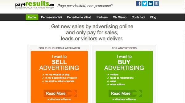 Guadagnare Con I Network Di Affiliazione Online: Pay4Results