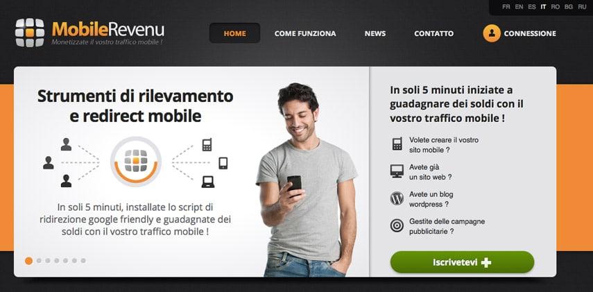 Affiliazione mobilerevenu: Guadagnare online con traffico mobile?