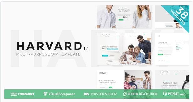 Harvard | Responsive Multi Purpose