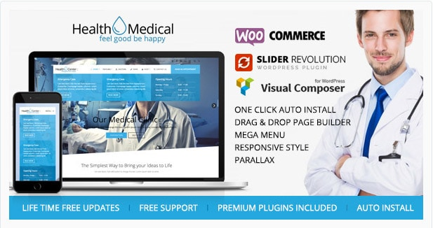 Health & Medical - WordPress Theme for Medicine
