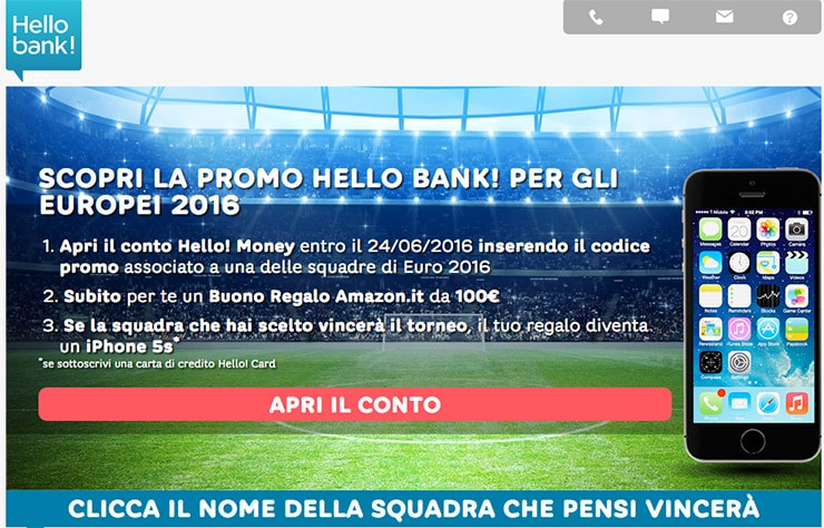 Hello Bank Promo Amazon Nuovi Conti Correnti?