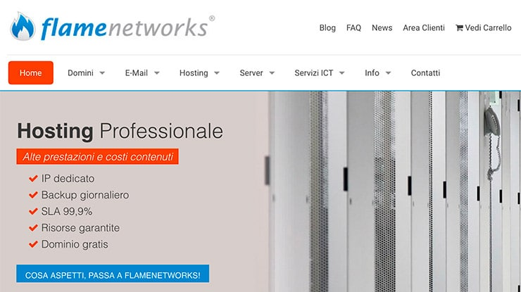 Hosting WordPress FlameNetworks: Alte Prestazioni e Test?