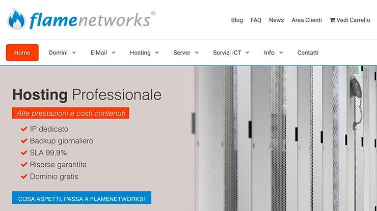 Hosting WordPress FlameNetworks: Alte Prestazioni e Test?
