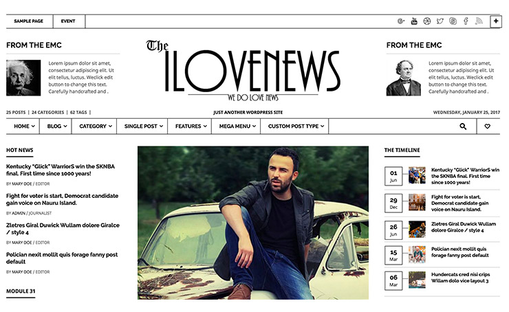 ILoveNews: Template WordPress News e Giornali 2017