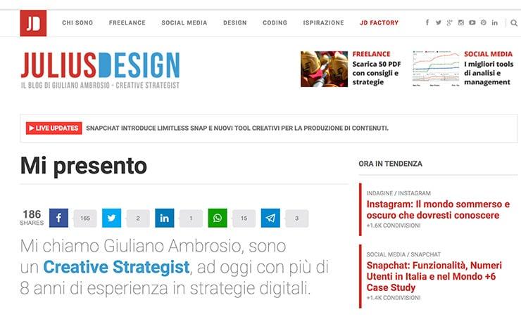 Monetizzando Intervista Julius Design Consigli, Guadagno Online