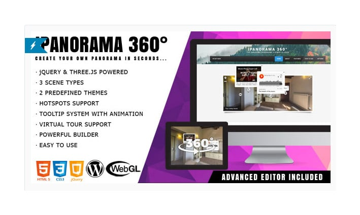 Plugin WordPress Virtual Tour: iPanorama 360°