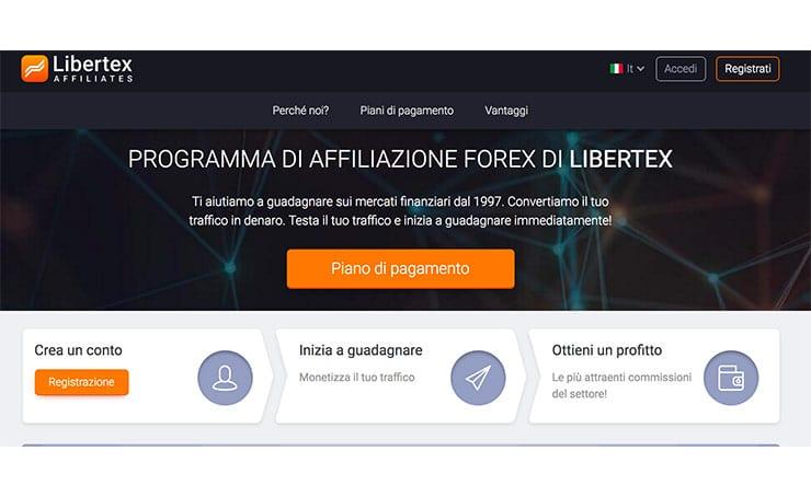 Affiliazioni Trading: Libertex Affiliates