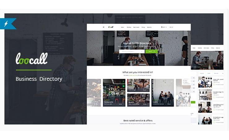 Loocall: Template WordPress Locali Business - Directory 2017