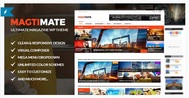 Magtimate - Magazine/Blog Multipurpose WordPress Theme