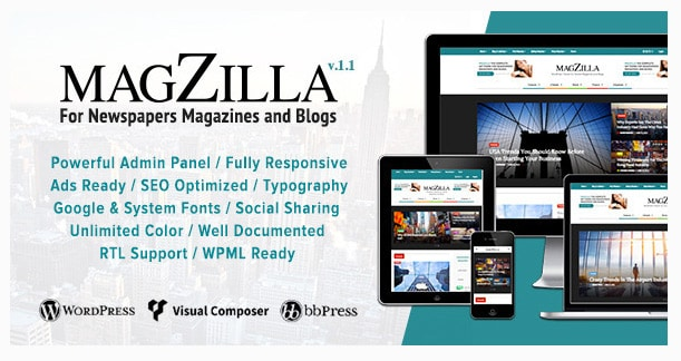 Magzilla - For Newspapers, Magazines and Blogs