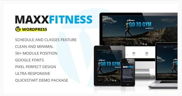 Maxx Fitness- Responsive WordPress Theme