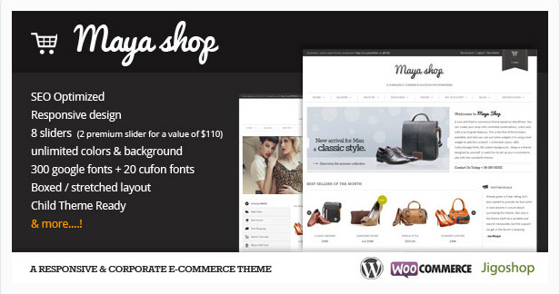 Maya Shop - Template eCommerce Responsive WordPress