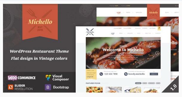 Michello - WordPress Restaurant Theme WooComerce