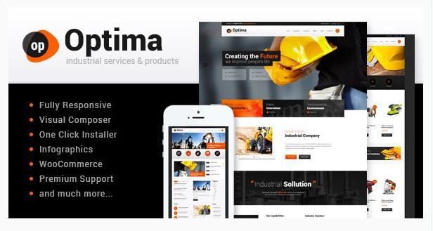 Optima - Industrial WordPress Theme