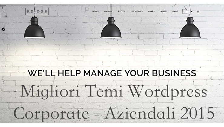 Migliori Template Corporate / Aziendali Wordpress 2015