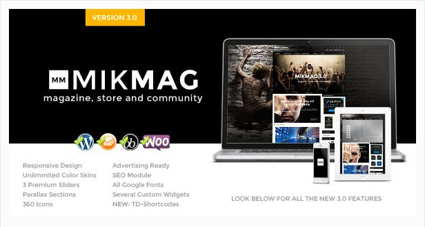 MikMag - Responsive Buddypress and WooCommerce