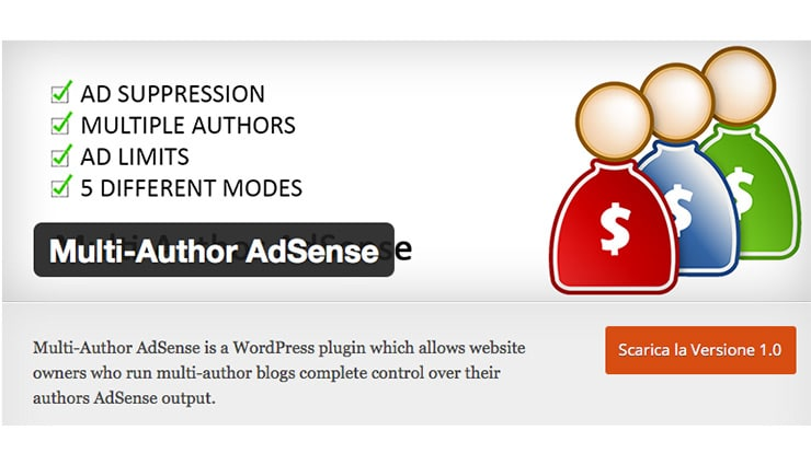 Plugin Wordpress AdSense Multi Autore: Multi-Author