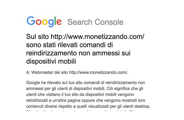 Monetizzando.com Bannato da Google