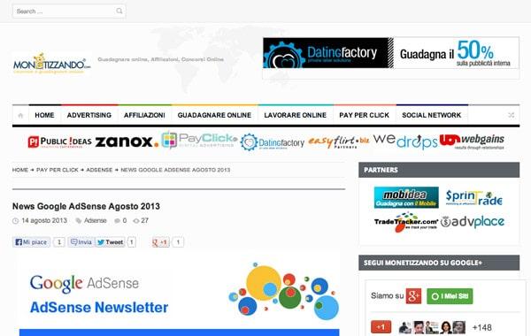 Nuova Grafica Monetizzando.com 2013