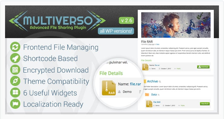 Multiverso Plugin WordPress Area Riservata e File Download
