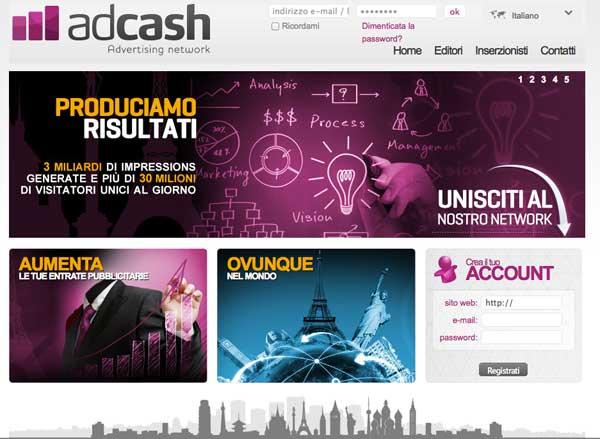 Network di affiliazione online: Adcash