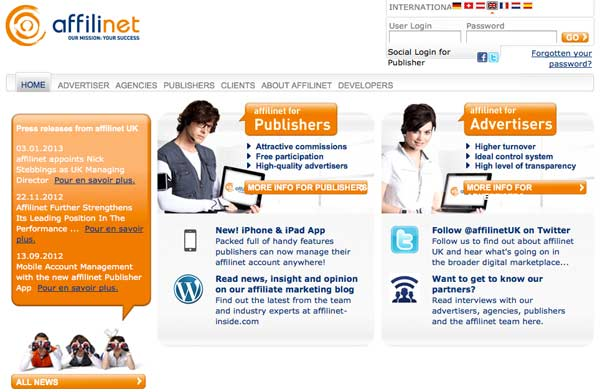 Network di Affiliazione Online: Affilinet