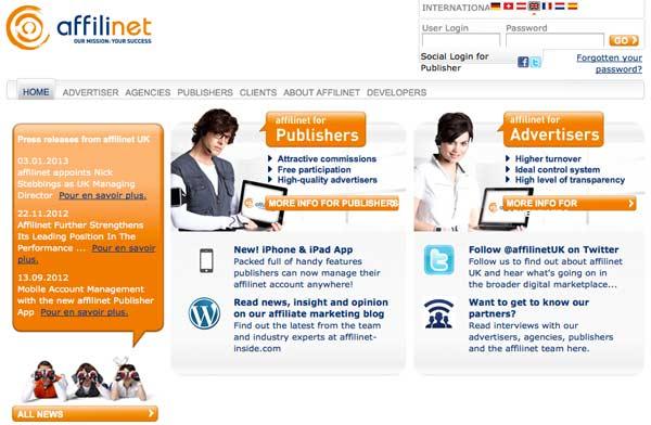 Network di Affiliazione Online: Affilinet