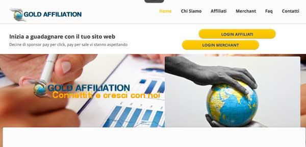 Network di Affiliazione Online: Goldaffiliation