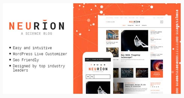 Neurion: Template WordPress Scienza e Medicina?