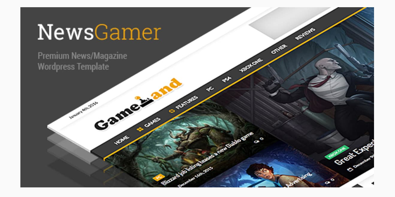 NewsGamer - WordPress News / Magazine Theme