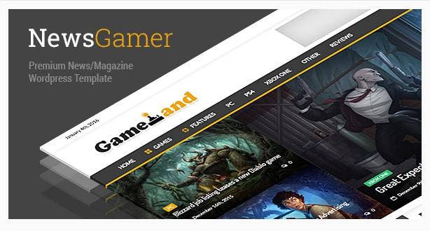 NewsGamer - WordPress News / Magazine Theme