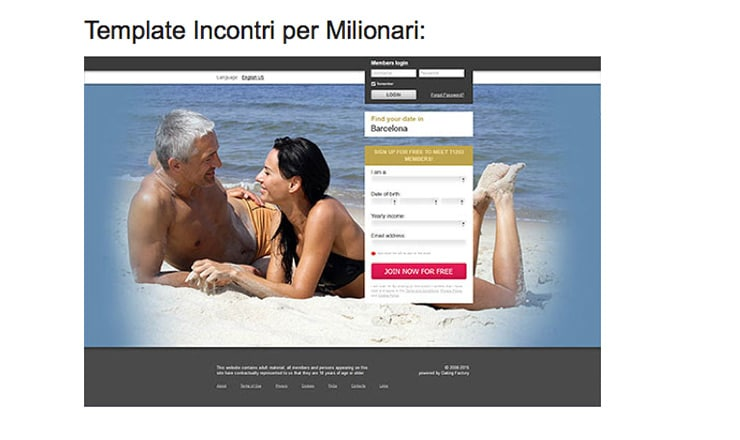 Affiliazione Dating Factory: News Settembre 2015