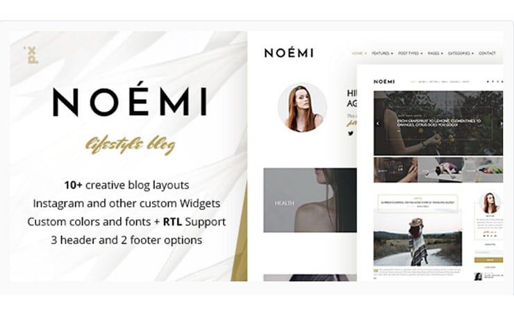 Template WordPress Fashion Lifestyle Moda: Noémi 2017