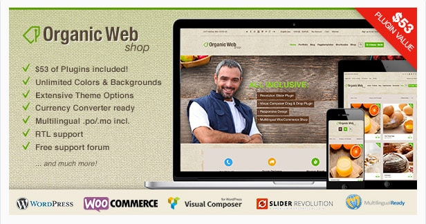 Organic Web Shop - Responsive WooCommerce Theme