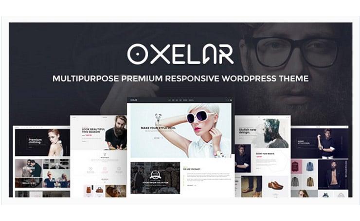 Oxelar: Template Fashion WooCommerce WordPress 2016 Responsive