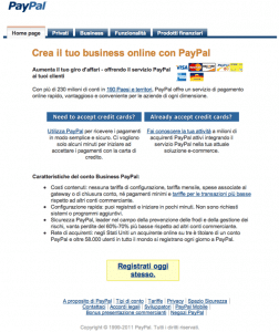 Paypal Business Commercianti