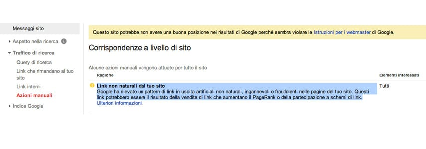 SEO: Penalizzazione google link innaturali in uscita - entrata 2014?