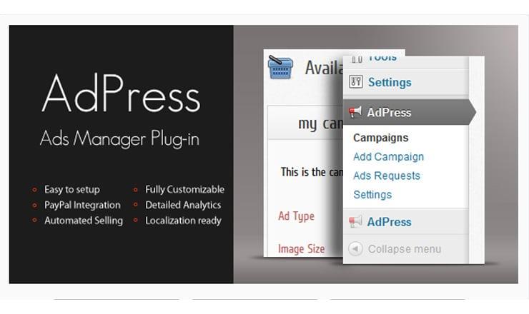 AdPress - Gestione banner e pubblicità su wordpress