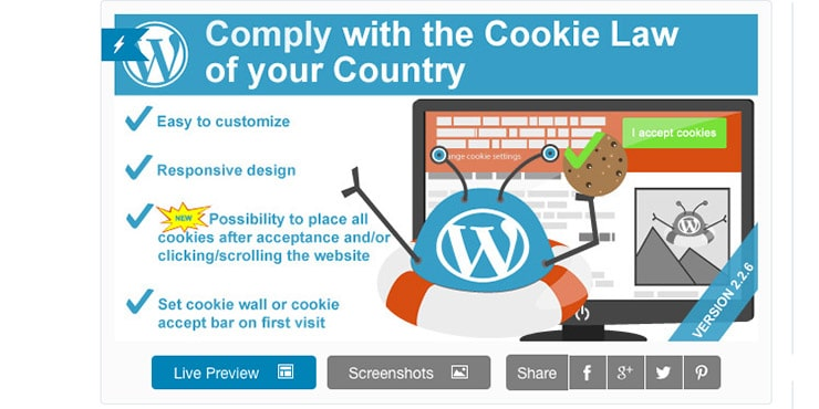 Plugin Wordpress Cookie Allow (EU Cookie Law)