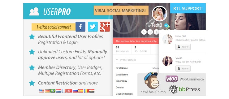 Plugin Wordpress Registrazione e Login via Social: UserPro