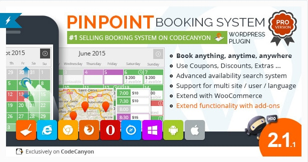 Pinpoint Booking System Pro Plugin