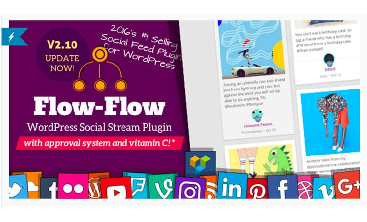 Plugin WordPress Social Stream - Social Feeds: Flow-Flow