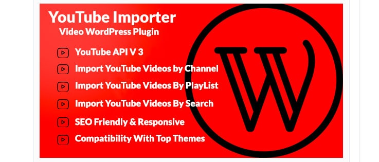 YouTube Importer: plugin wordpress importare video YouTube