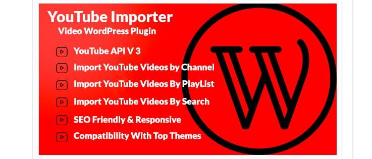 YouTube Importer: plugin wordpress importare video YouTube