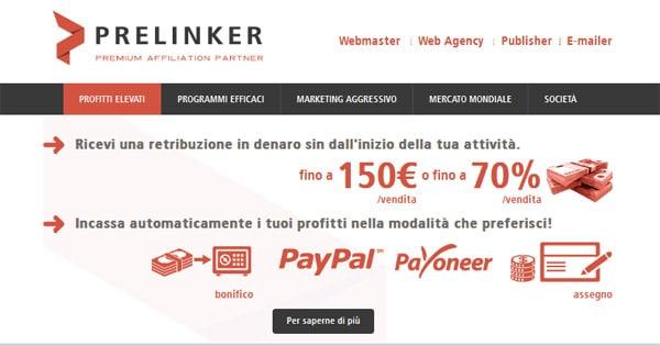 Affiliazione Incontri Prelinker - Guadagnare Online
