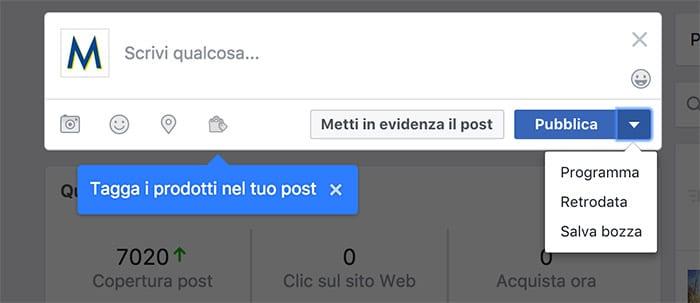 Programmare i Post della Pagina